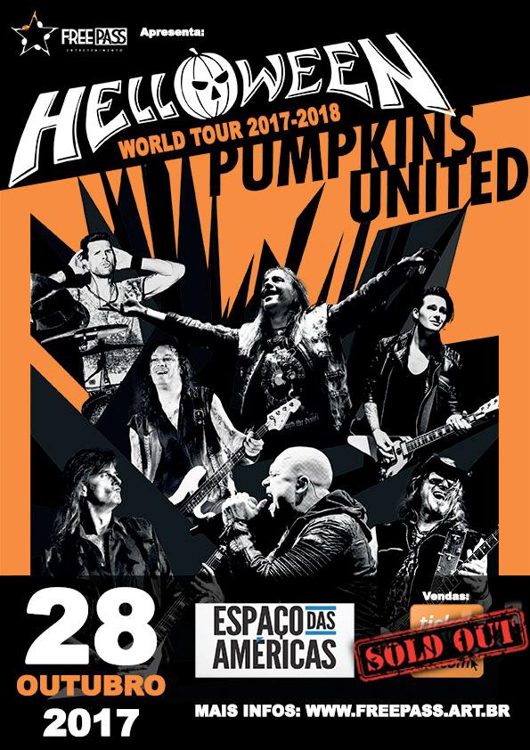 """Helloween anuncia data extra da turnê """"Pumpkins United World Tour 2017/18"""" em São Paulo"""
