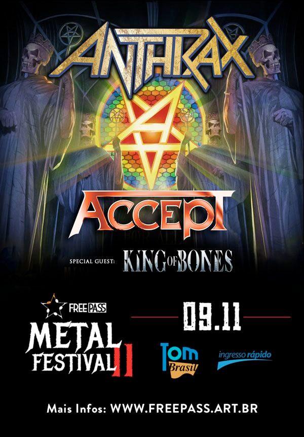Free Pass Metal Festival traz Anthrax e Accept para São Paulo
